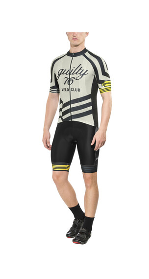 guilty 76 racing Velo Club Pro Race Jersey korte mouwen Heren grijs